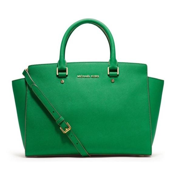 99b7000ce561 ... purchase michael kors selma green bag 1bbc3 8f61d